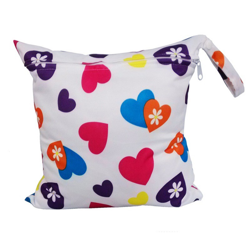 28*30CM  Single Waterproof Pocket Cloth Size Bags, Dry Small Mummy L1 Diaper Reusable Bag, Wet Nappy Bag Baby