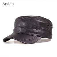 HL153 B Genuine Leather Men Baseball Cap Hat High Quality Men S Real Sheep Skin Leather