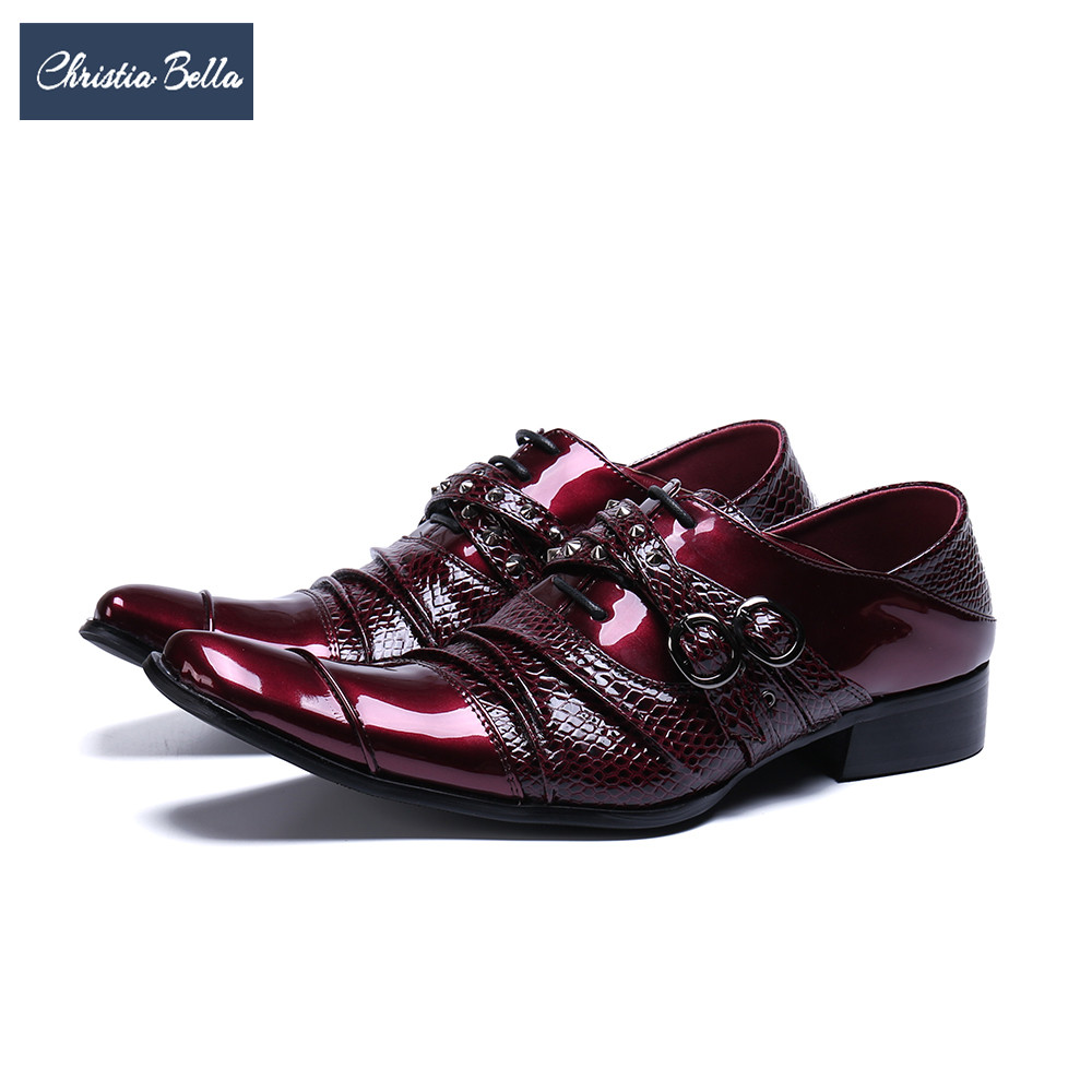 Christia Bella Italian Designer Men Brogue Shoes Patent Leather Men Formal Shoes Plus Size Fashion Lace Up Office Wedding ShoesChristia Bella Italian Designer Men Brogue Shoes Patent Leather Men Formal Shoes Plus Size Fashion Lace Up Office Wedding Shoes