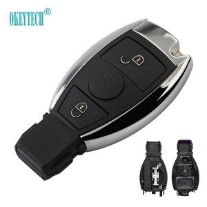 OkeyTech запасной ключ с 2 кнопками, чехол для пульта дистанционного управления для Mercedes BENZ ML SL SLK CLK W211, чехол-накладка для пульта дистанционного ...
