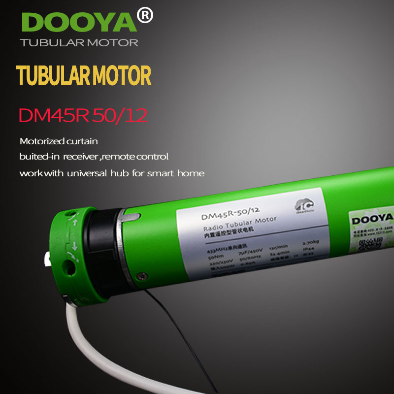 High Quality Original Dooya Tubular Motor 220V 50MHZ DM45R For Motorized Rolling Blinds Biult -in Receiver 433MHz For Remote