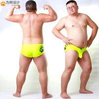 Arrival Bear Claw Plus Size Men's Bulge Enhancing Briefs Gay Bear Shorts Penis Sheath Underwear Red/Light Blue/Neon Yellow