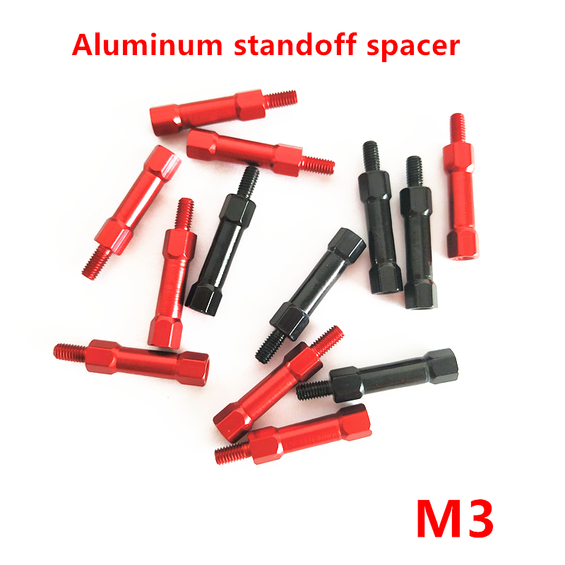 10 Pcs M3 Hex Aluminium Standoff Spacer M3 * 10/15/20/25/30/35 /40mm Aluminium Kolom Pijler Voor Model Staven Bekwame Vervaardiging