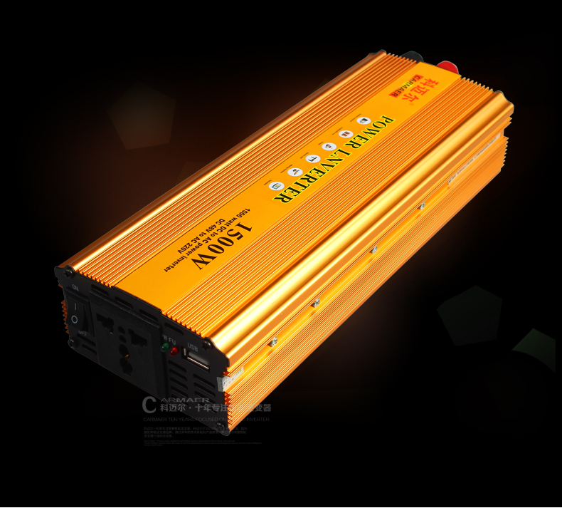 Free Shipping 1500W DC 48V to AC 220V crocodile clip + E bike Connection line USB Power Inverter Converter Transformer Power стоимость