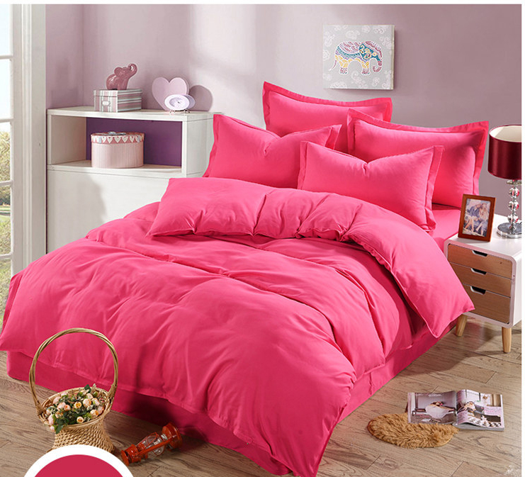 US $35.99 |Rose pink Twin full queen king size 3/4Pcs Bedding Set Bedroom  Set Bedclothes Quilt cover bed sheets, pillowcase Bed Linen-in Bedding Sets  ...