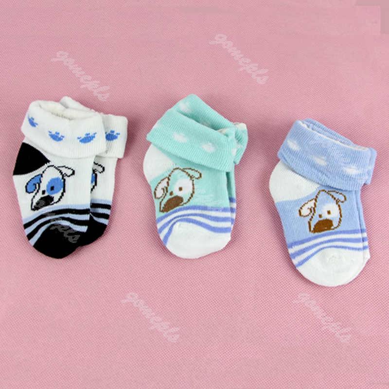 1 คู่เด็กทารกเด็กทารกเด็กวัยหัดเดิน Anti - slip รองเท้าผ้าฝ้ายถุงเท้า 0-6 M
