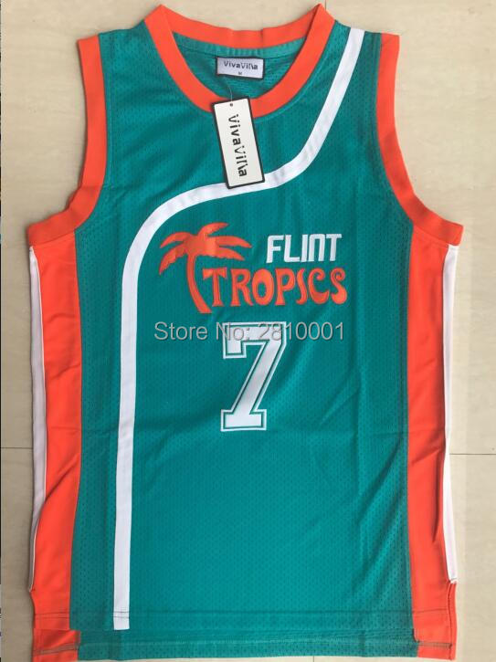 4d1b4691 Stitched #7 Coffee Black Flint Tropical Cheap Throwback Basketball Jerseys  #11 ED Monix #33 Moon #69 Downtown Movie Jerseys
