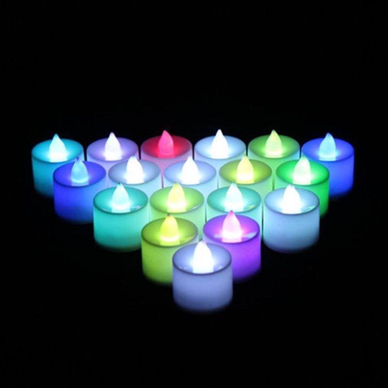 6pc batareya ilə işləyən LED şam rəngli lampa simulyasiya rəng - Ev dekoru - Fotoqrafiya 5