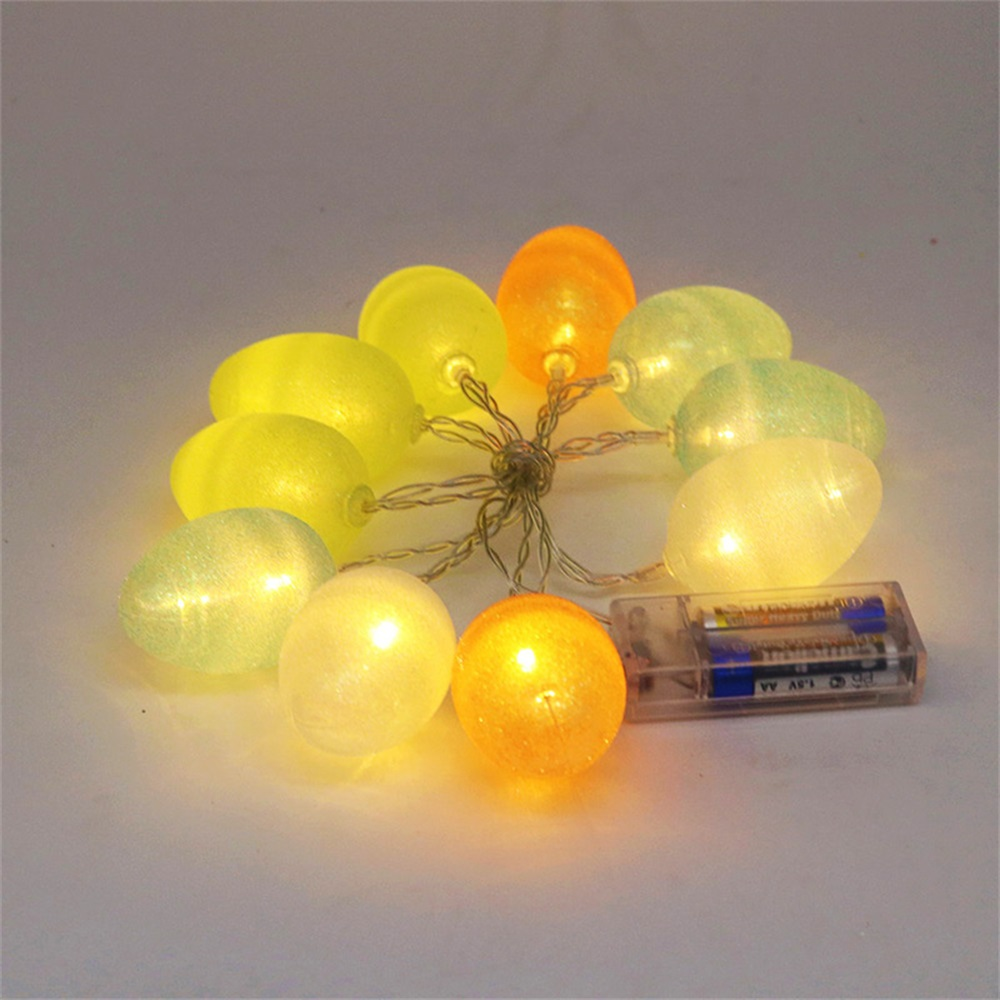 10 Leds Colorful Easter Egg Light Strings Balls Lighting Chains For Wedding Party Christmas Halloween Battery Operated Lustrous