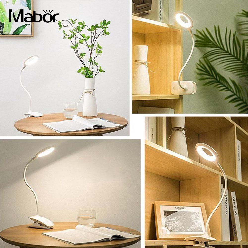 Book Lamp Reading Light Piano Night Lamp Desk Lamp Clip-On Adjustable LED Clip Booklight Portable Sensitive Light For Travel Bed