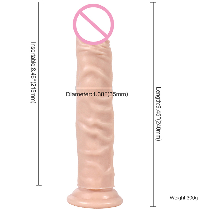 XING SE 9.45 inch  Huge Dildo Realistic  Suction Cup sex toys for woman Cheap Thick Curved Penis Big dildo for woman Sex Shop wearable penis sleeve extender reusable condoms sex shop cockring penis ring cock ring adult sex toys for men for couple