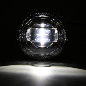 Image 5 - 2x Neueste Runde High Power Universal LED Nebel Licht Birne Lampe Auto Tag Lichter Auto styling Nebel Lampe Für ford F150 07 14