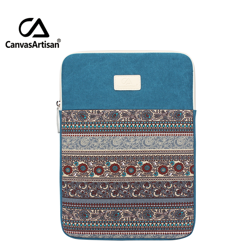 Canvasartisan Top Quality Canvas Laptop Bag 15 Inches Apple Air Sleeves Multufunctional Briefcases Retro Style Business Bags