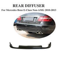 Задний диффузор спойлер для Mercedes Benz E Class W212 Стандартный бампер AMG 2010 2013 из искусственной кожи неокрашенный Черный Грунтовка стайлинга автом