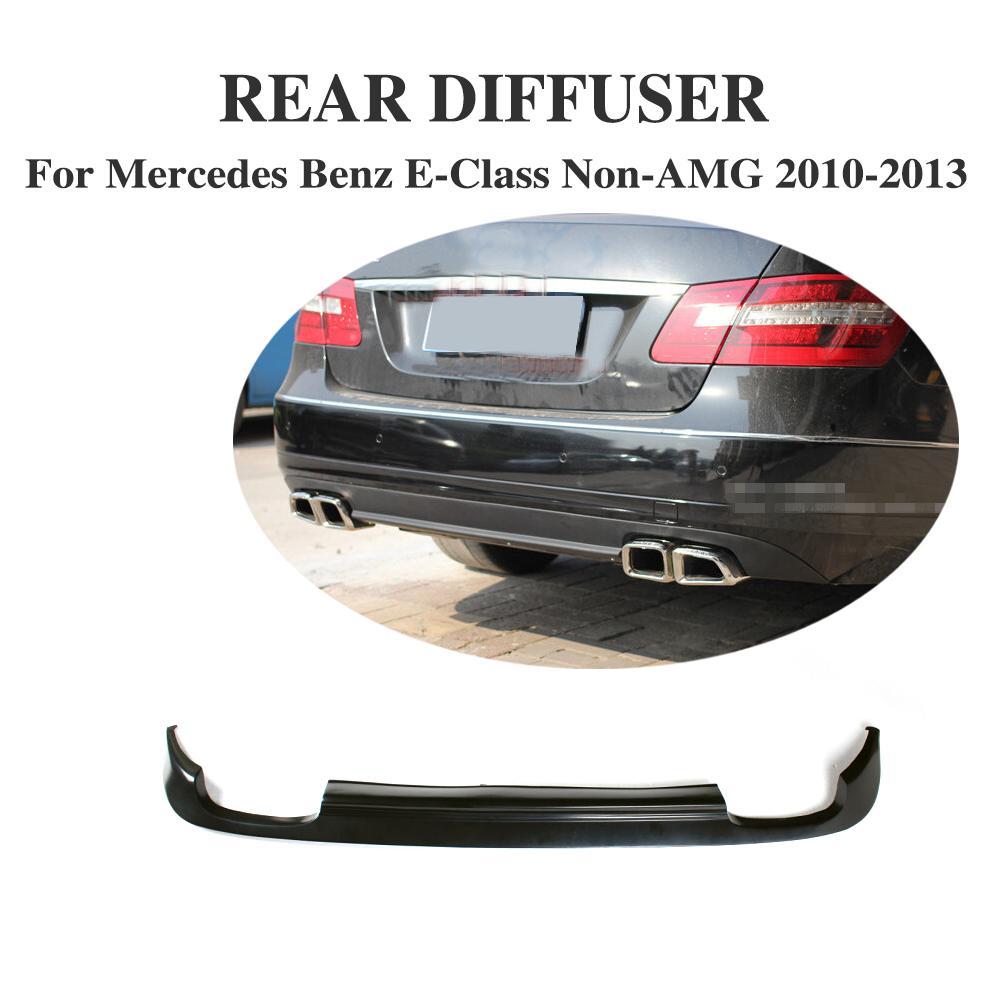 Rear Diffuser Lip Spoiler For Mercedes Benz E-Class W212 Standard Bumper Non-AMG 2010-2013 PU UNpainted Black Primer Car Styling 2010 2014 mercedes benz cls63 amg black weathertech cargo liners
