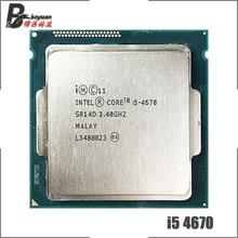인텔 코어 i5 4670 i5 4670 3.4 ghz 쿼드 코어 cpu 프로세서 6 m 84 w lga 1150
