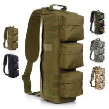 Nylon Outdoor Sports Tactical Military Travel camping Hiking Backpack single shoulder bag Sling Chest bag Messenger climbing bag