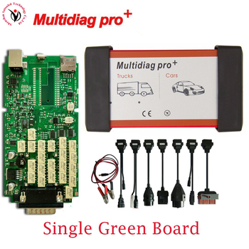 DHL Auto Diagnostic Tool Single Board Multidiag Pro VD TCS CDP PRO NO Bluetooth+8pcs Car Cable For Car/Truck/Generic 3IN1