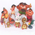 12pcs Disney Kids Personalized Christmas Gifts Moana Princess Anna Marine Romance Anime Toy Figures Decor Doll Toys for Children