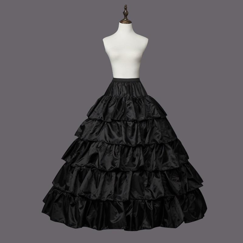 4 Hoops 5 Layers Ball Gown Petticoats  Black Petticoat Crinoline Underskirt Big Ruffle Wedding Accessories Tulle Underskirts