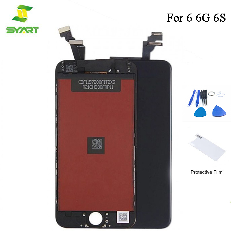 SYART New 4.7 LCD For iPhone 6 6S LCD Display Touch Screen Glass Digitizer Full Assembly Replacement Parts Tools For 6 6G 6S