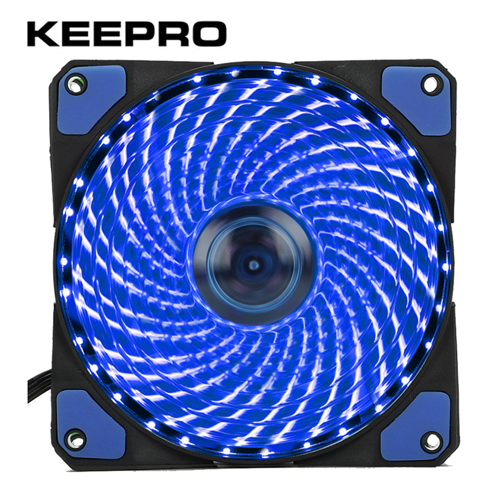 KEEPRO Original 33 LEDs 120mm LED Ultra Computer Cooler Silent Computer PC Case Fan 12V Quiet Connector Easy Installed Fan gdstime 10 pcs dc 12v 14025 pc case cooling fan 140mm x 25mm 14cm 2 wire 2pin connector computer 140x140x25mm