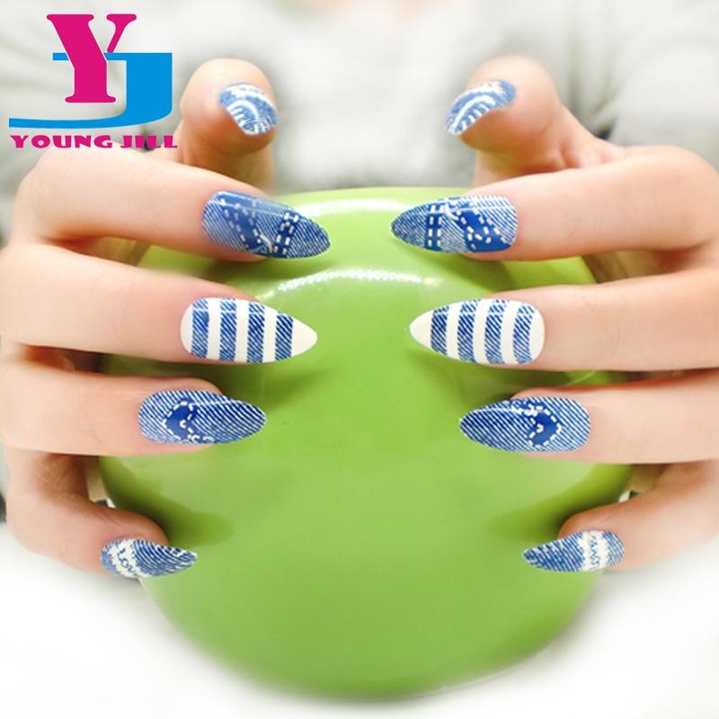 24 stks / pak Kunstnagels Volledige Cover Fake Nagels voor Nail Art - Nagel kunst - Foto 1