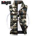 Winter Vest Men Brand Camouflage Vest Autumn Male Outwear Cotton-Padded Waistcoat Sleeveless Jacket and Coat Warm Vest 3XL,YA439