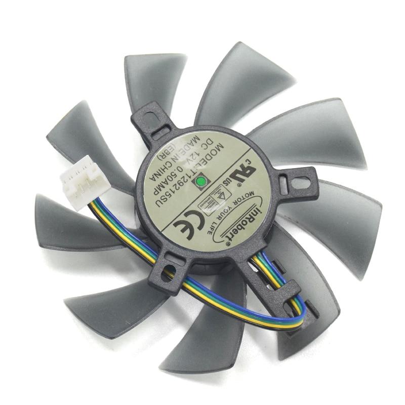 DIY 85MM T129215SU 4Pin TWO-Ball Bearing Cooler Fan For Gigabyte GeForce GTX 1050 Ti 1060 1070 1080 RX 480 470 570 580 G1 Card power logic pld09210s12hh 87mm cooler fan for gigabyte gtx 1050 1060 1070 rx 470 480 g1 graphics card 12v 0 40a 3pin cooling fan