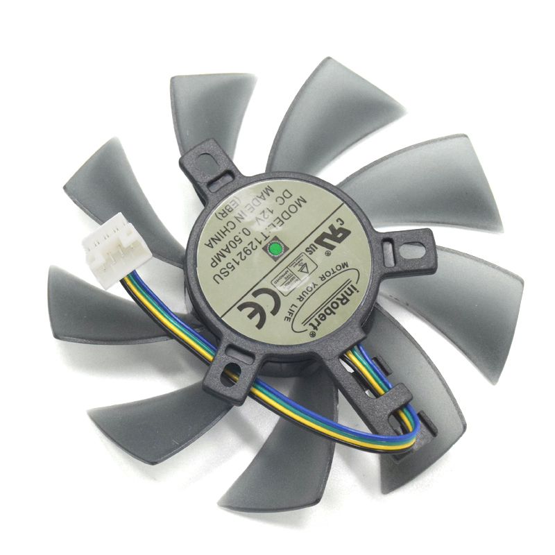 DIY 85mm T129215SU 4Pin dos Ball Bearing refrigerador ventilador para Gigabyte GeForce GTX 1050 Ti 1060 1070 1080 RX 480 470 570 580 G1 tarjeta