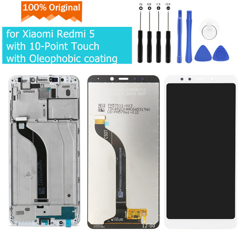 Original for Xiaomi Redmi 5 LCD Display Touch Screen with Frame Digitizer Assembly for Xiaomi Redmi 5 LCD Display Replace Parts