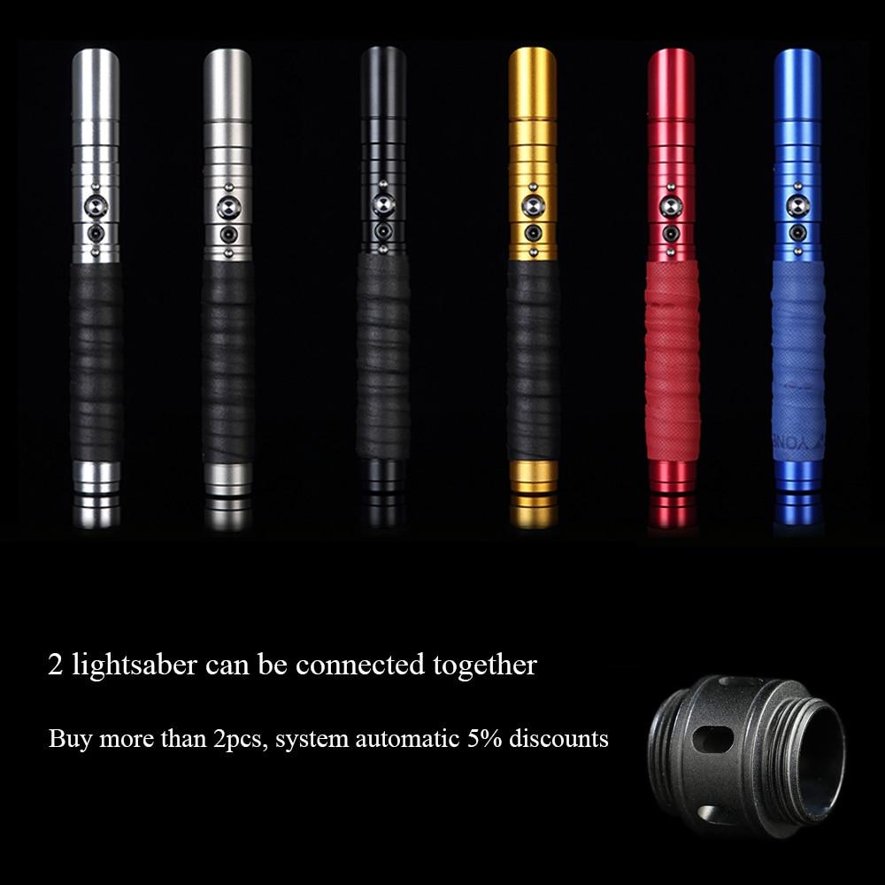 LGT RGB Sabre Laser Jedi Sith Luke Light Saber Force FX Lourd Duel Rechargeable Changement de Couleur Son FOC enfermer En Métal poignée - 6
