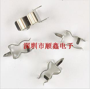 PCB Panel Mounting Clip 5 * 20MM 0.35 Thick Fuse Holder Fuse Clips Tin Plated Brass Clip