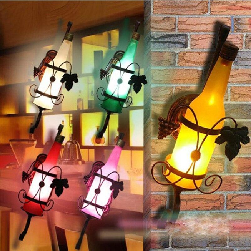 E27 Vintage Rustic Sconces Beer Bottle Wall Lamp Bar Bedroom Hallway Balcony Wall Decor LED Bulb Home Decor Garden wall lamp led mental light vintage arrow beer sign bar game room wall hangings decorations home decor