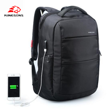 Kingsons 15.6 inch Laptop men Backpack  Man Business Women backpack Travel Bag External Charging USB Function School Bags New