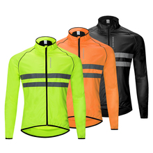 WOSAWE High Visibility Cycling Jackets Men Breathable Windproof Refective Rain Water Resistance Sports Bike Bicycle Windbreaker цена и фото