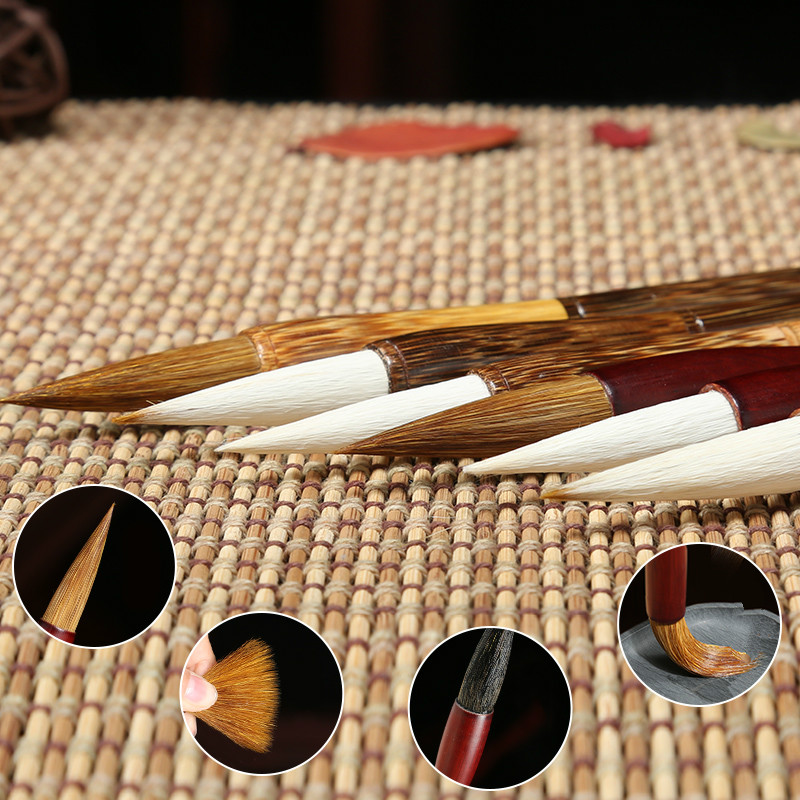 Beginner's Special Practice Calligraphy Pen Student Regular Script Writing Brushes Woolen And Weasel Hair Writing Brush цена