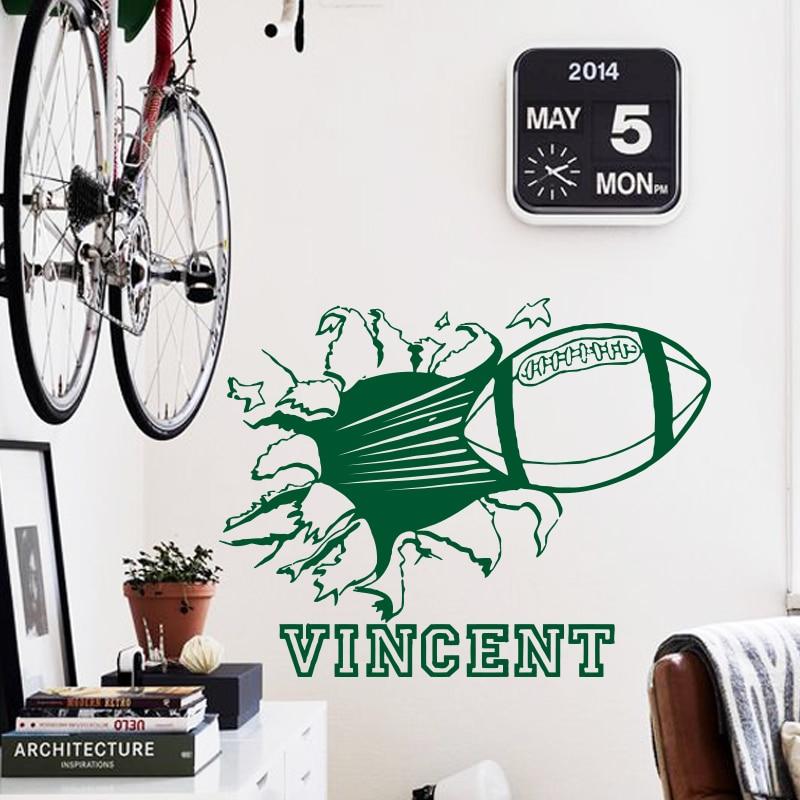 Konst modedesign heminredning namn citat vinyl Rugby fotboll vägg - Heminredning - Foto 2