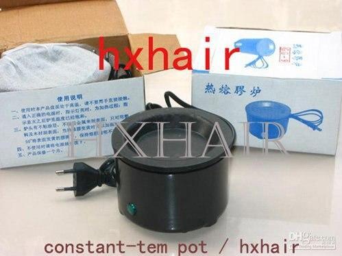 Freeshipping 20pcs Constant Temperature Glue Pot Extension Hair Tools