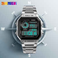 Countdown Compass Sport Watch SKMEI Mens Watches Top Brand Luxury Wrist Watch Men Waterproof LED Electronic Digital Male Watch