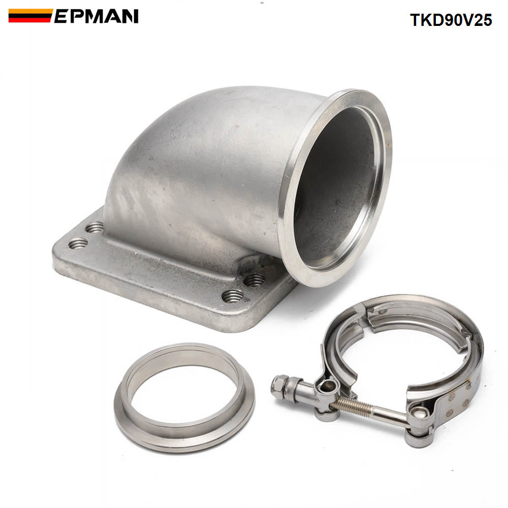 """2.5/"""" V-Band and Machined Full Stainless Flange clamp assembly gasket 3.5/"""" od"""