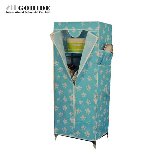 Gohide DIY Двойной Повысило Простой Шкаф Ассамблеи Garderobe Сушильный Шкаф Одного Шкаф Мебель Для Спальни