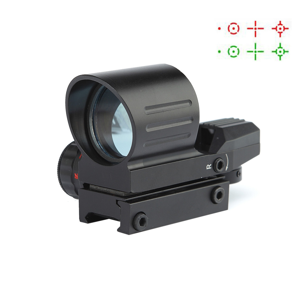 Red/Green Dot Sights Scopes 21 Mount Rail Hunting Air Guns Rifle Scope Tactical Optical Airsoft Riflescope Hunting Air Scopes