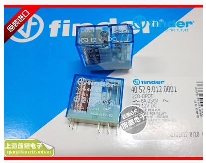 HOT NEW relay 40.52.9.012.0001/40.52 12VDC 40.52-12VDC 8A 250V finder DIP8 5pcs/lot  цена и фото