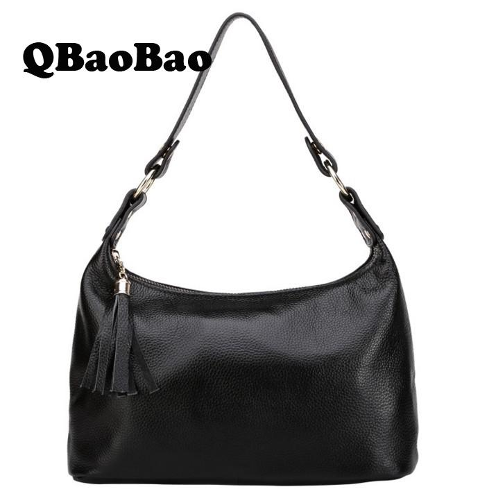 New Arrival 2017 Brand Genuine Leather Hobos Women Handbag Soft Leather Fashion Shoulder Bag Large Capacity Casual Women Bag new 2017 fashion brand genuine leather women handbag europe and america oil wax leather shoulder bag casual women