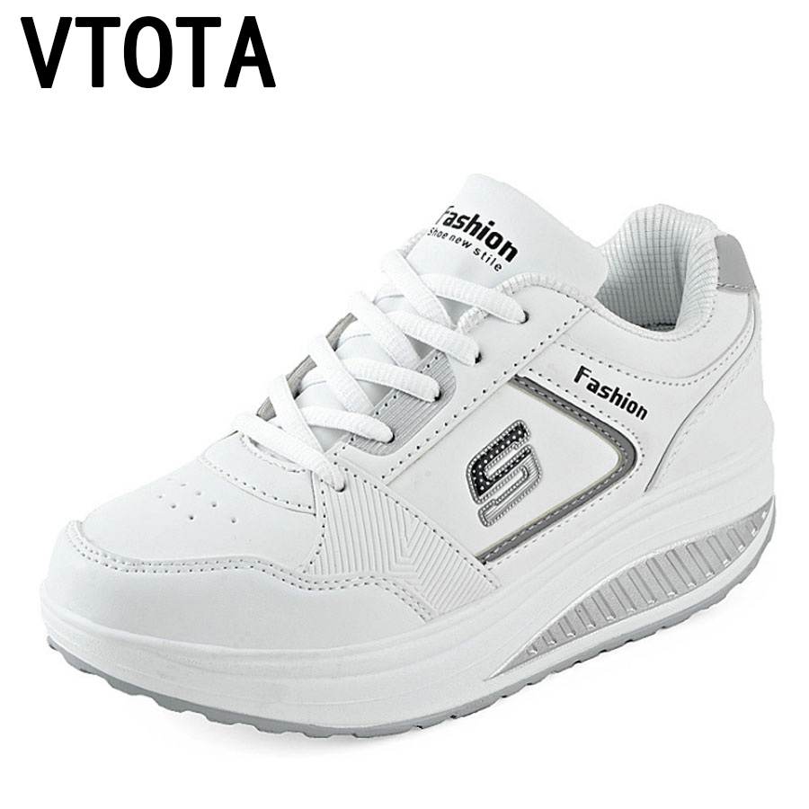VTOTA White Sneakers Platform Wedges Trainers Women Bambas Mujer Basket Femme 2018 Casual Shoes Tenis Feminino Women'S Shoes H82
