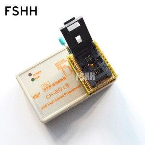 Image 3 - 送料無料! usb spiフラッシュ高速プログラマCH2015 + 6 × 8 qfn8/wson8/dfn8アダプタ24/93/25/spiフラッシュ/eepromプログラマ