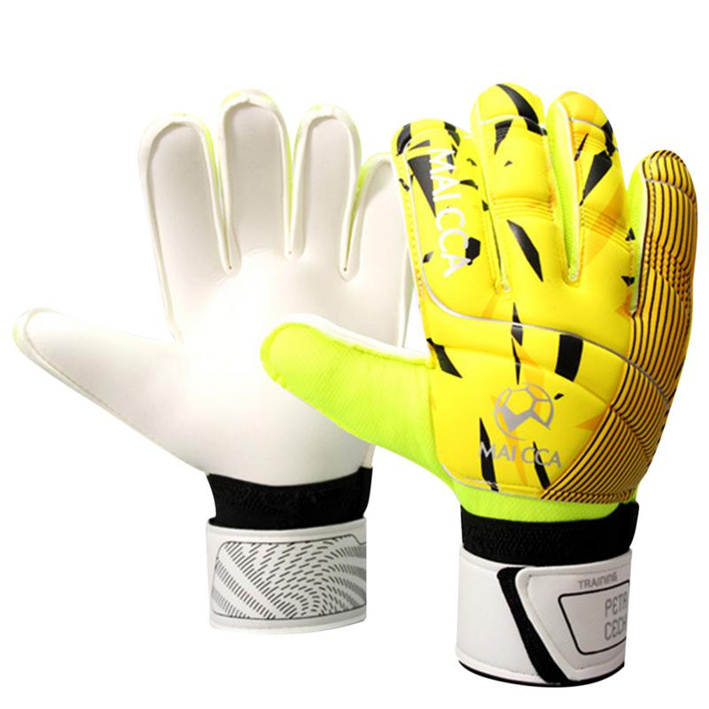 New Professional Teenager Goalkeeper Full Latex Gloves with Finger Protector Thicken for Training Soccer Durable Sports Gloves