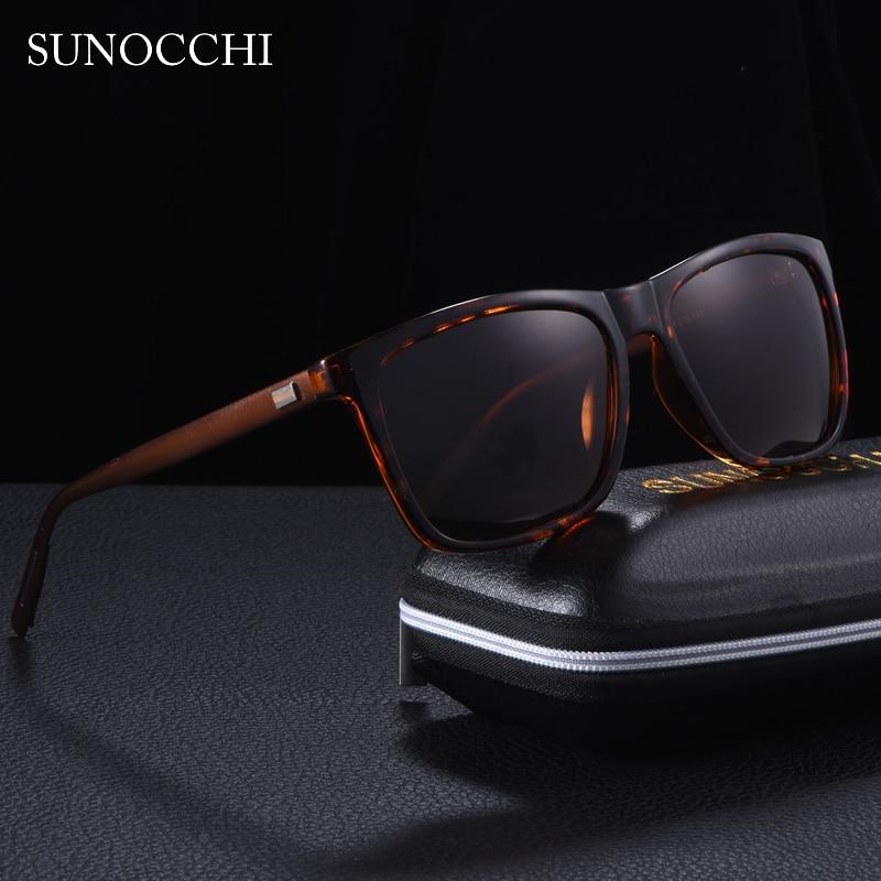 Brand Designer Vintage Square Unisex Sunglasses Men Polarized 2019 Driving Shades Male Lens Sun Glasses For Men Women in Men 39 s Sunglasses from Apparel Accessories