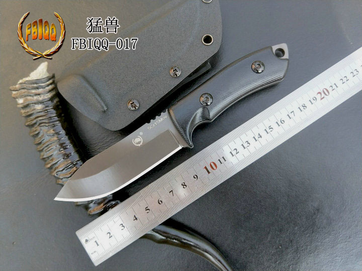 FBIQQ Outdoor Self-defense Saber, High Hardness Knife Survival Knife, Portable Tactical Survival Small Straight Knife